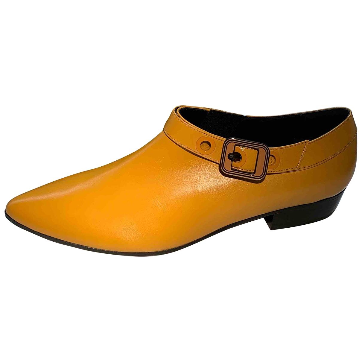 Bottega Veneta - Boots   pour femme en cuir - jaune