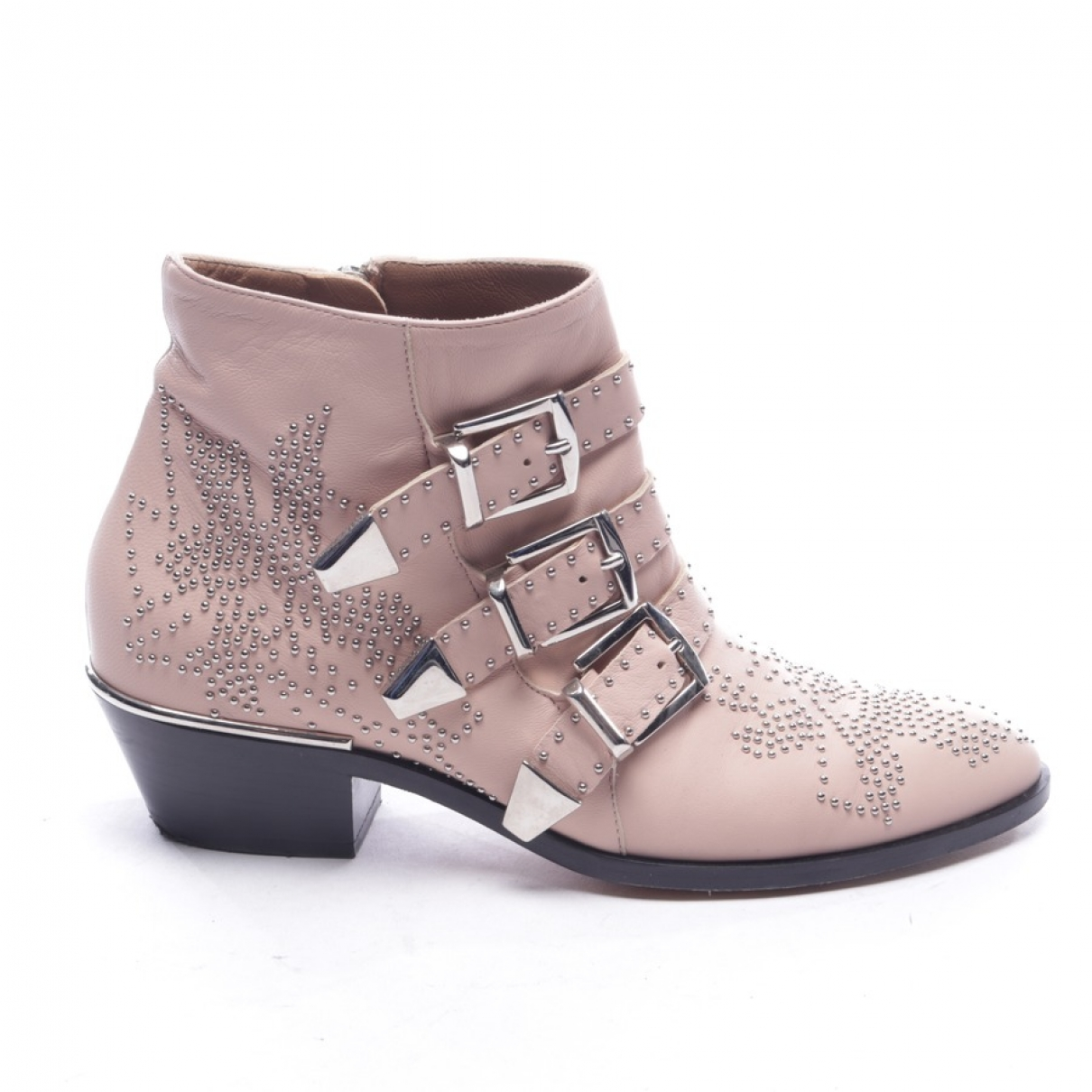 Chloé Susanna Pink Leather Ankle boots for Women 37 EU