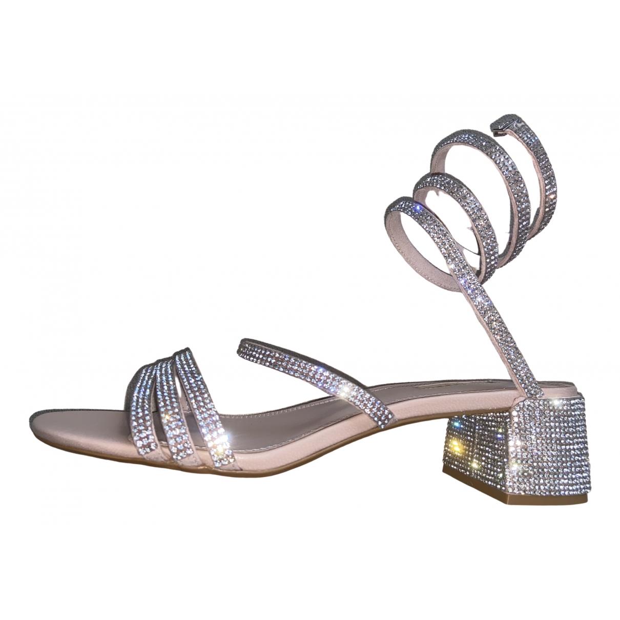 Dune \N Sandalen in  Silber Leder