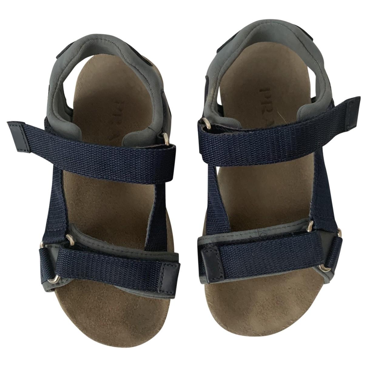 Prada - Sandales   pour enfant en cuir - bleu