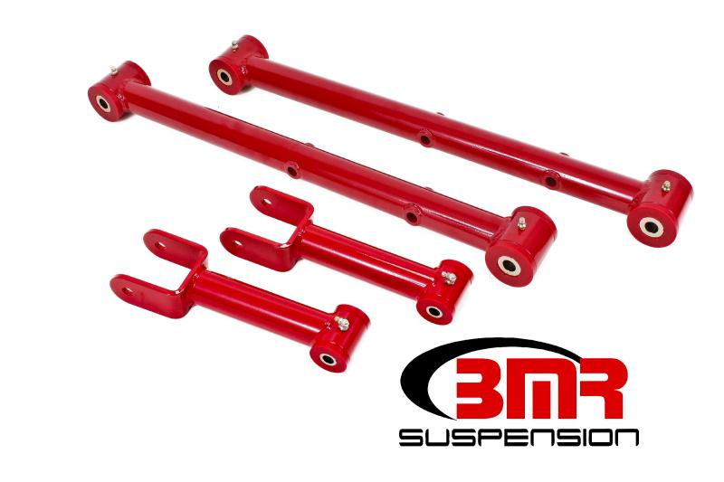 BMR Suspension RSK011R Polyurethane Rear Suspension Kit Non-adjustable Red Buick Skylark | Chevrolet Malibu | Oldsmobile Cutlass | Pontiac GTO 68-72