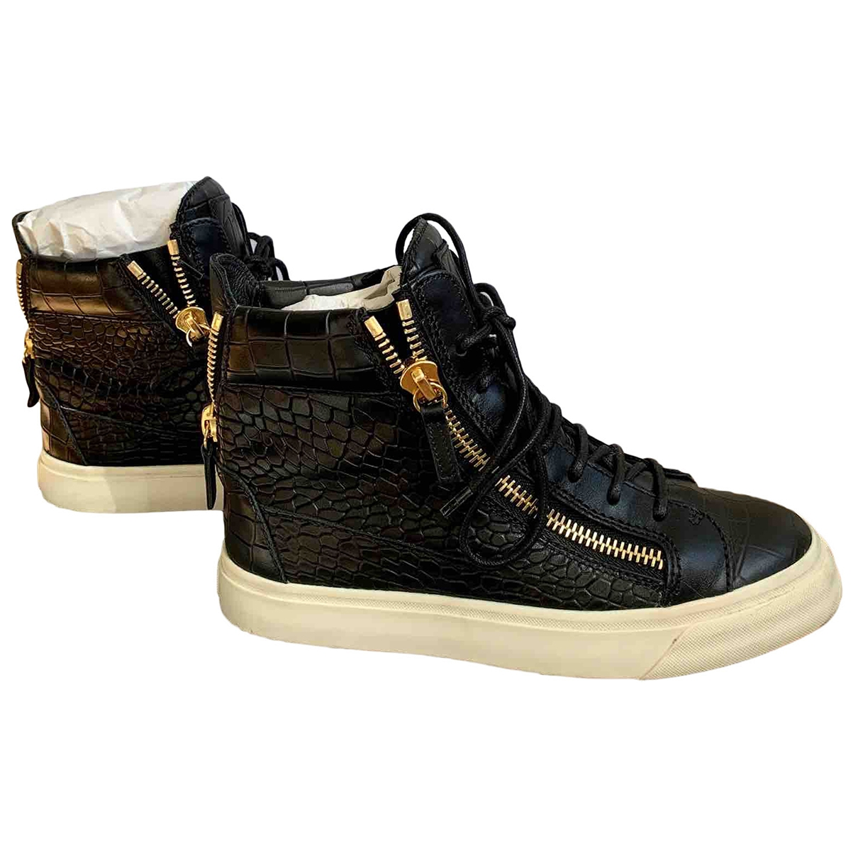 Giuseppe Zanotti \N Sneakers in  Schwarz Leder