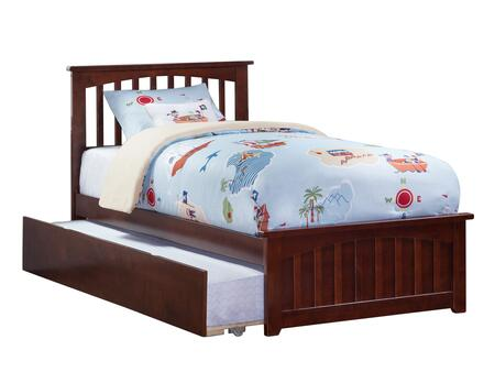 Mission Collection AR8726014 Twin Size Platform Bed with Matching Footboard  Twin Size Urban Trundle  Slatted Headboard  Hardwood Slat Kit and