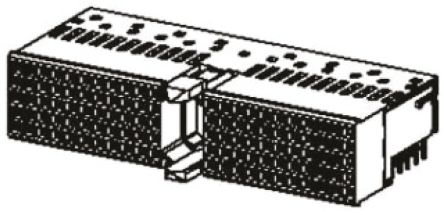 HARTING har-bus HM Series 2mm Pitch Hard Metric Type A Backplane Connector, Female, Right Angle, 5 Row, 110 Way