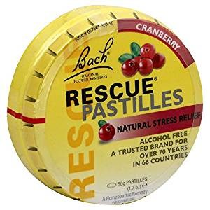 Rescue Pastilles Tin Cranberry 1.7 Oz by Bach Flower Essences