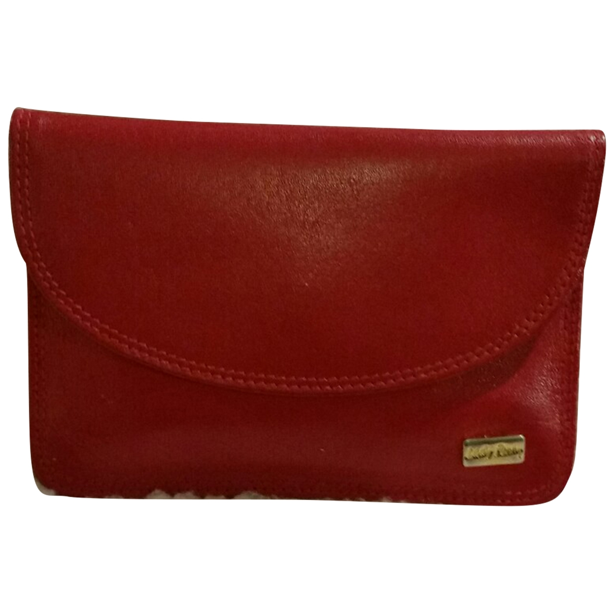 Non Signé / Unsigned \N Red Leather Purses, wallet & cases for Women \N