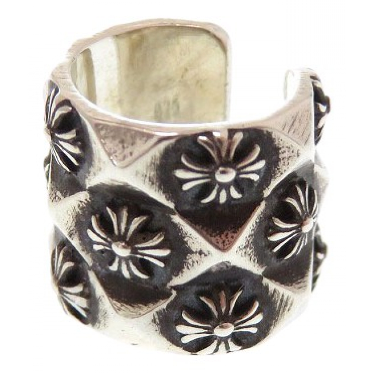 Chrome Hearts \N OhrRing in  Silber Silber