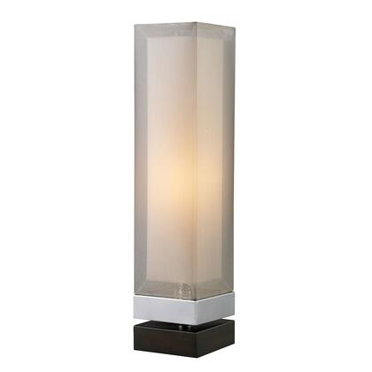 D1409 Volant Table Lamp  In Chrome With Painted Espresso