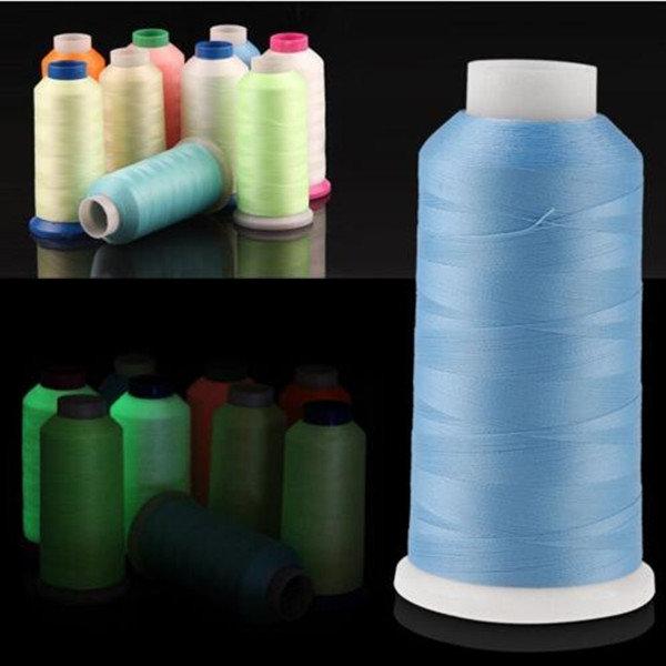 1000 Yards Spool Luminous Glow In The Dark Machine Hand Embroidery Sewing Thread