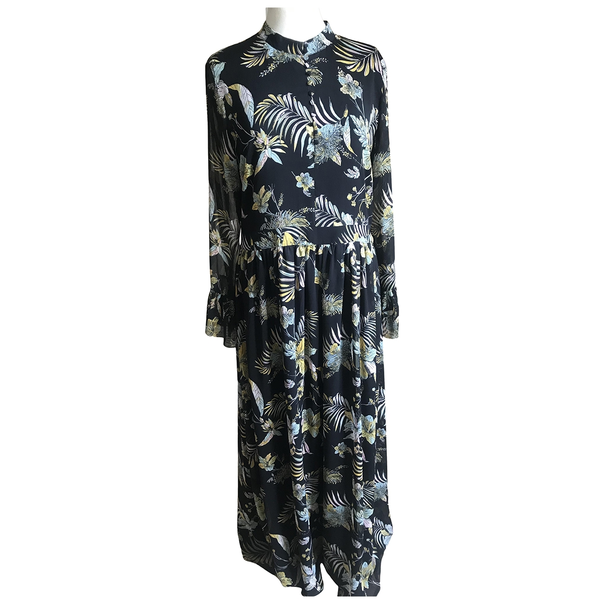 Gestuz \N Kleid in  Schwarz Polyester