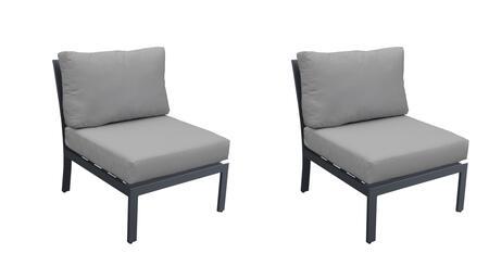 TKC067b-AS-DB-GREY Armless Chair 2 Per Box - Ash and Grey