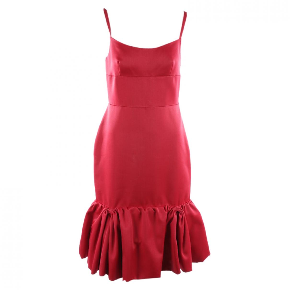 Prada \N Kleid in  Rot Leder