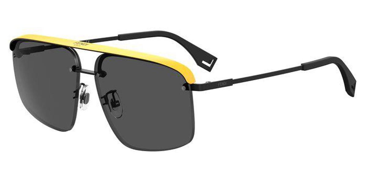 Fendi FF M0094/G/S 807/IR Men's Sunglasses Black Size 62