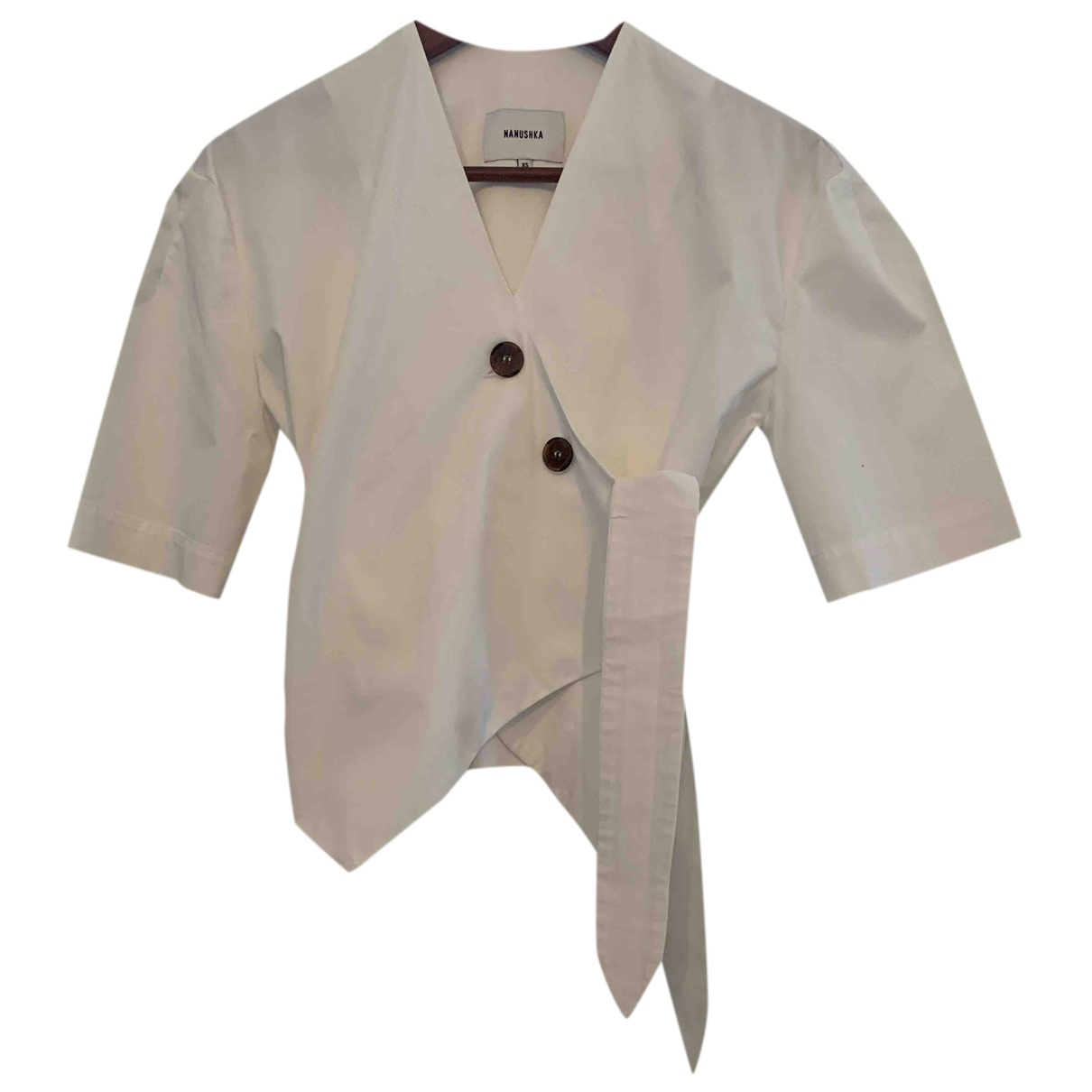 Nanushka - Top   pour femme en coton - blanc