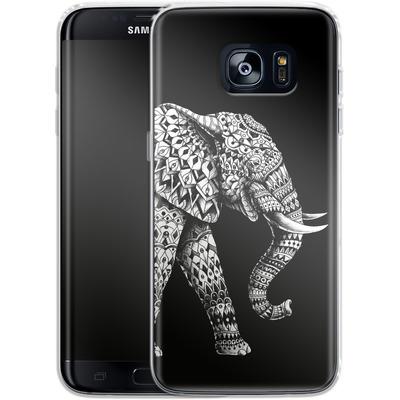 Samsung Galaxy S7 Edge Silikon Handyhuelle - Ornate Elephant 3.0 von BIOWORKZ