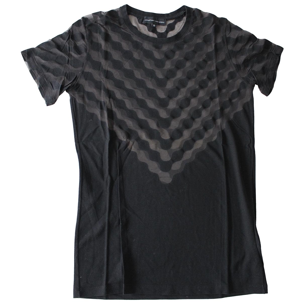 Jonathan Saunders - Top   pour femme en coton - noir