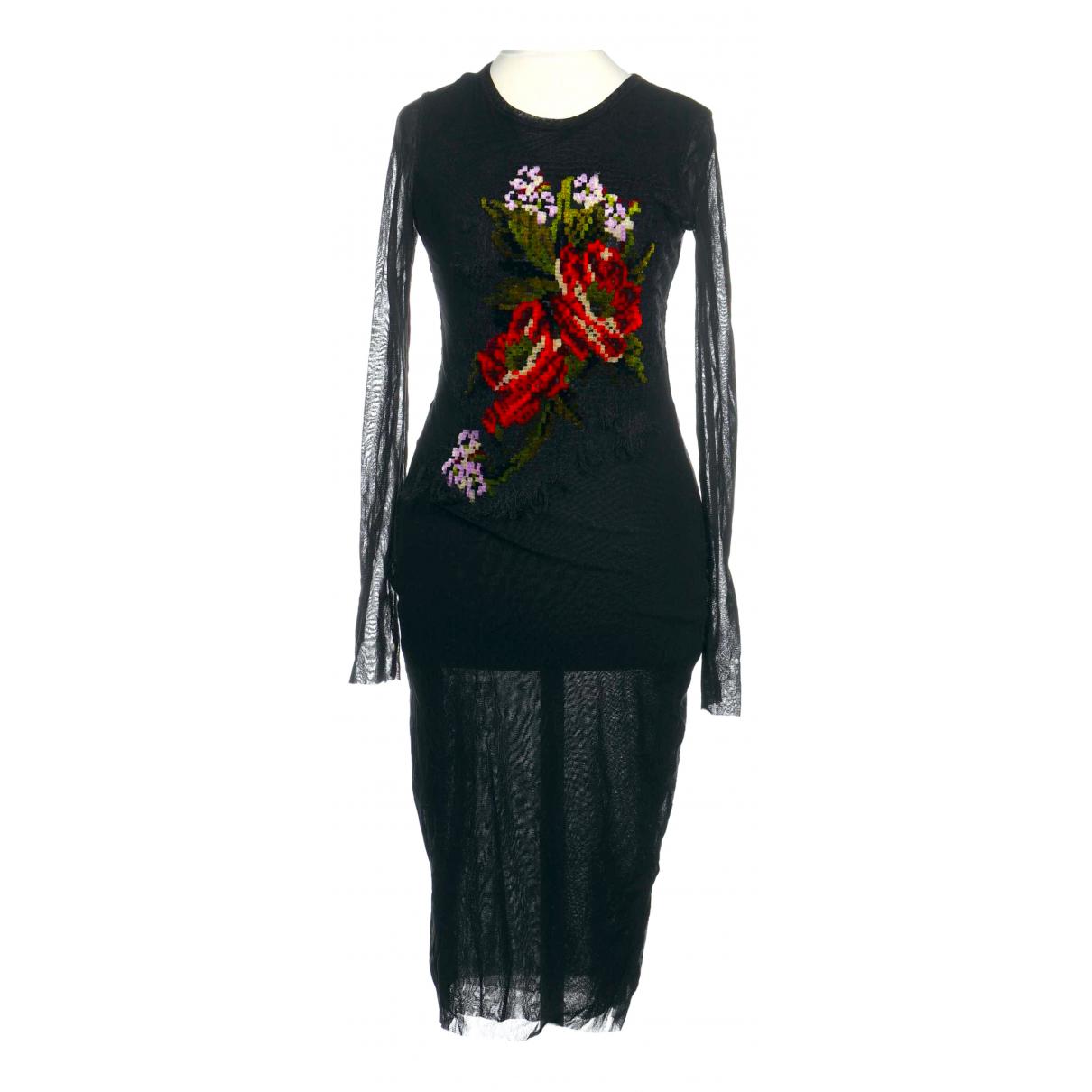 Jean Paul Gaultier \N Kleid in  Schwarz Polyester