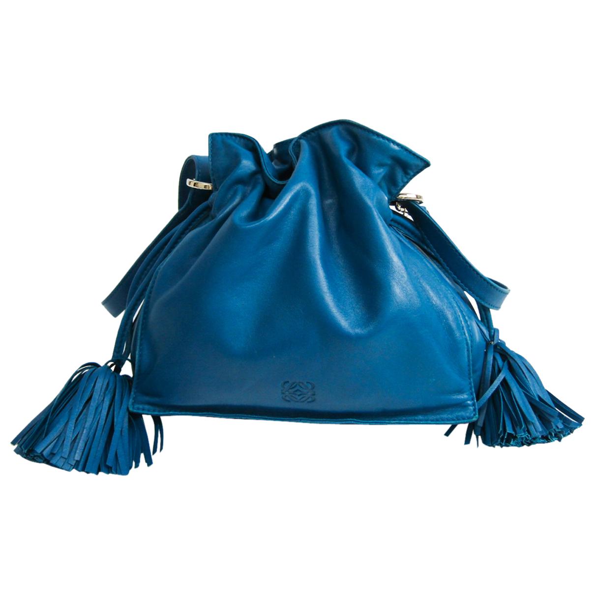 Loewe - Sac a main Flamenco pour femme en cuir - bleu