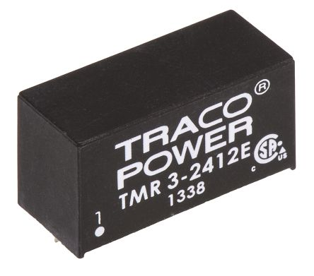 TRACOPOWER TMR 3E 3W Isolated DC-DC Converter Through Hole, Voltage in 18 → 36 V dc, Voltage out 12V dc