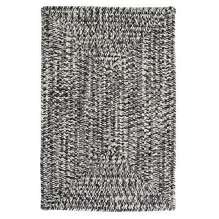 Colonial Mills Blaise Tweed Reversible Indoor/Outdoor Braided Rug, One Size , Black