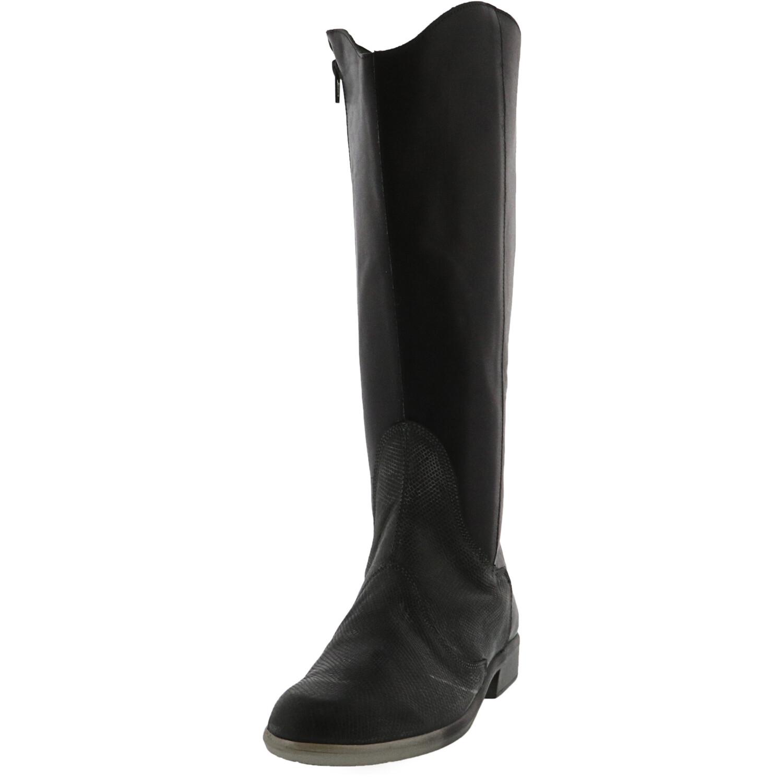 Naot Women's Shamal Black / Raven Grey Knee-High Leather Boot - 5.5M
