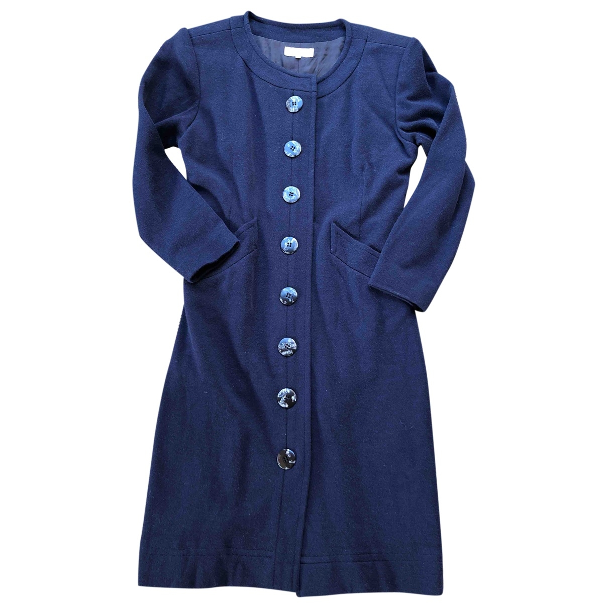 Yves Saint Laurent \N Navy Wool dress for Women 36 FR