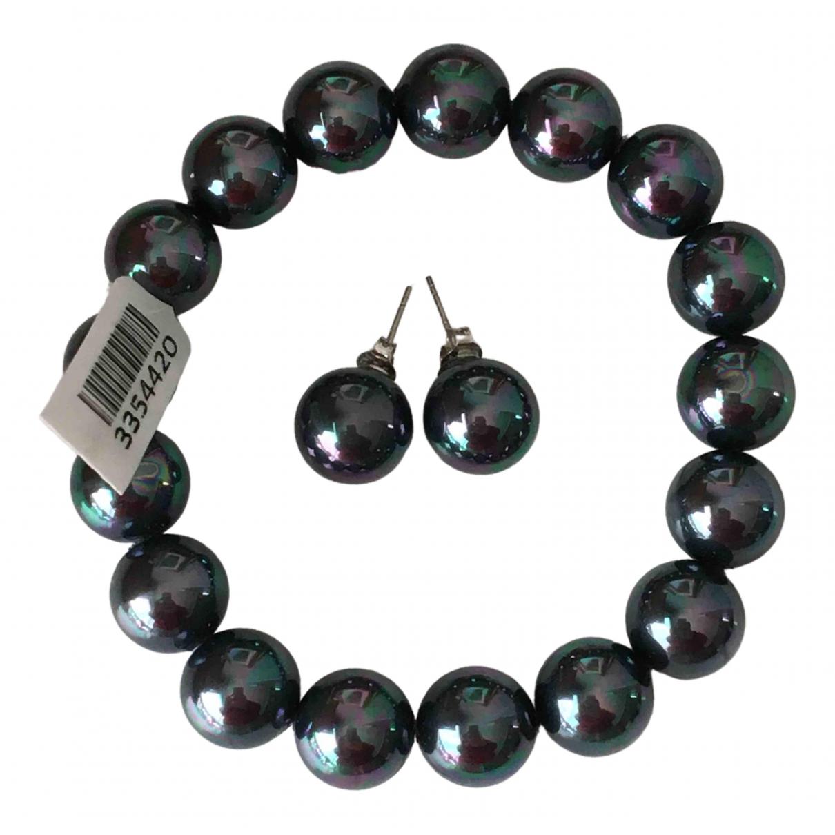 - Boucles doreilles Nacre pour femme en perle - multicolore