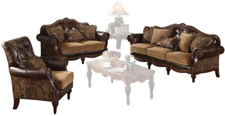 Dreena Collection 05495SLC 3 PC Living Room Set with Sofa  Loveseat and Chair in 2-Tone Brown