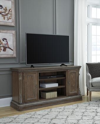 Charmond Collection W80368 XL TV Stand w/Fireplace Option in