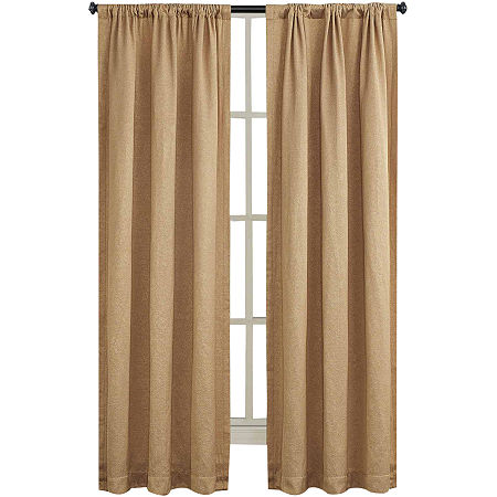 Shale Rod-Pocket Curtain Panel, One Size , Yellow