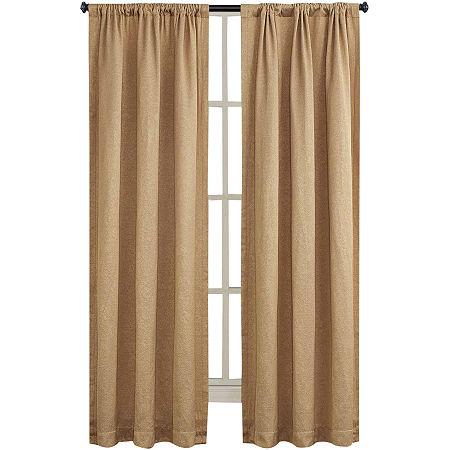 Liz Claiborne Energy Saving Light-Filtering Rod-Pocket Single Curtain Panel, One Size , Yellow