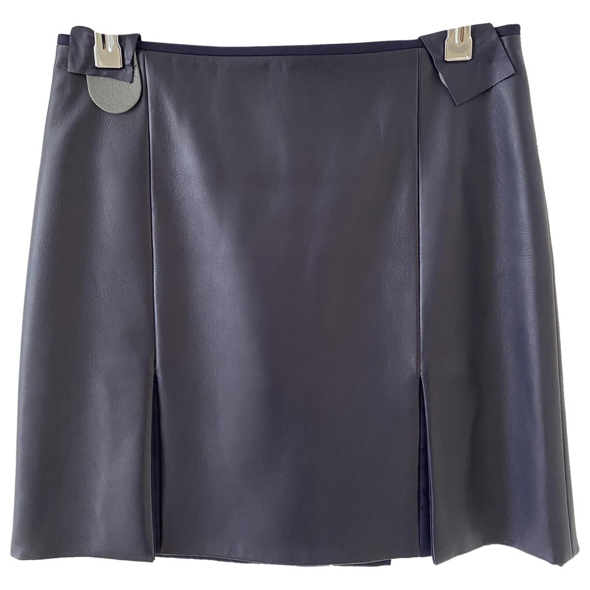 Hermes - Jupe   pour femme en cuir - violet