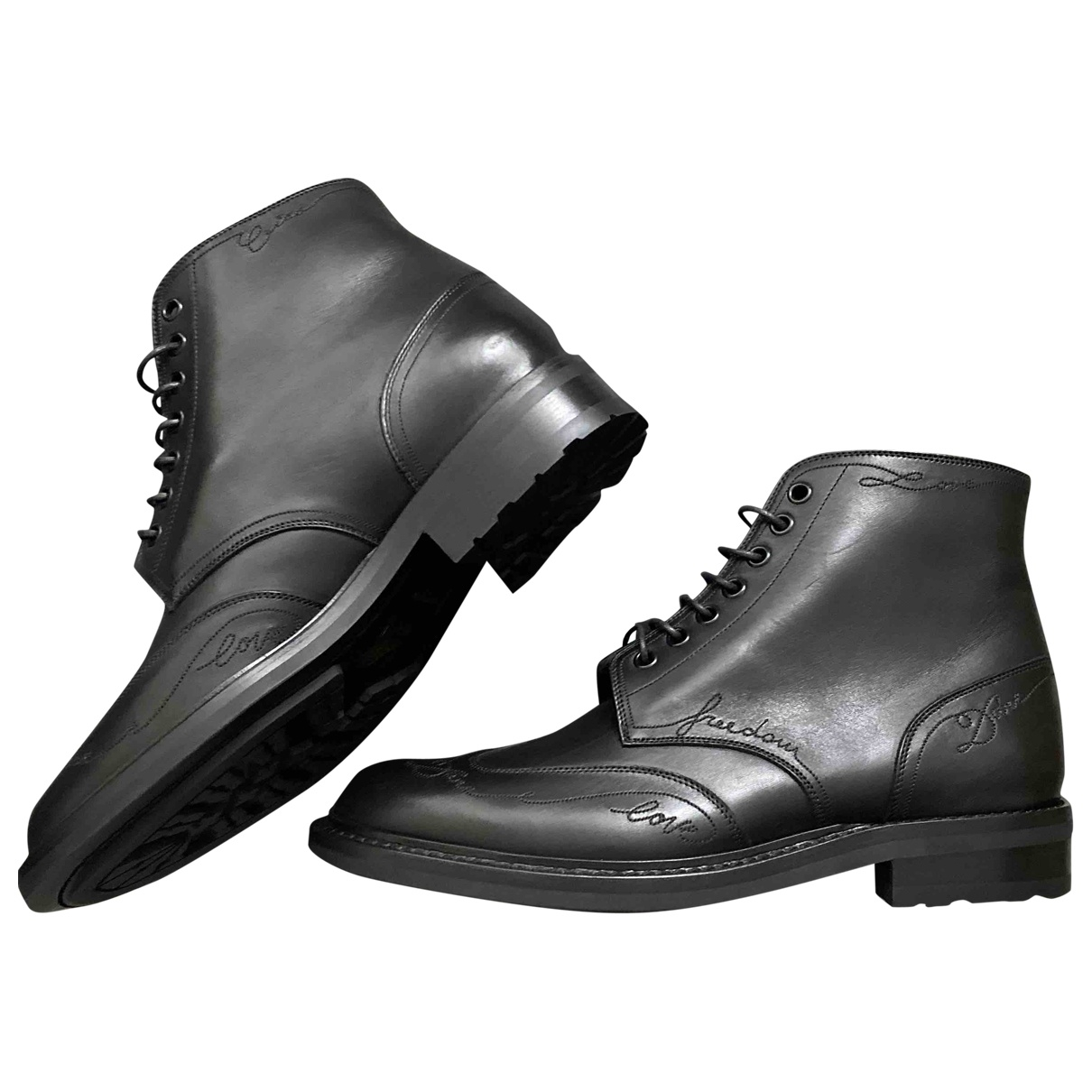 Saint Laurent Army Stiefel in  Schwarz Leder