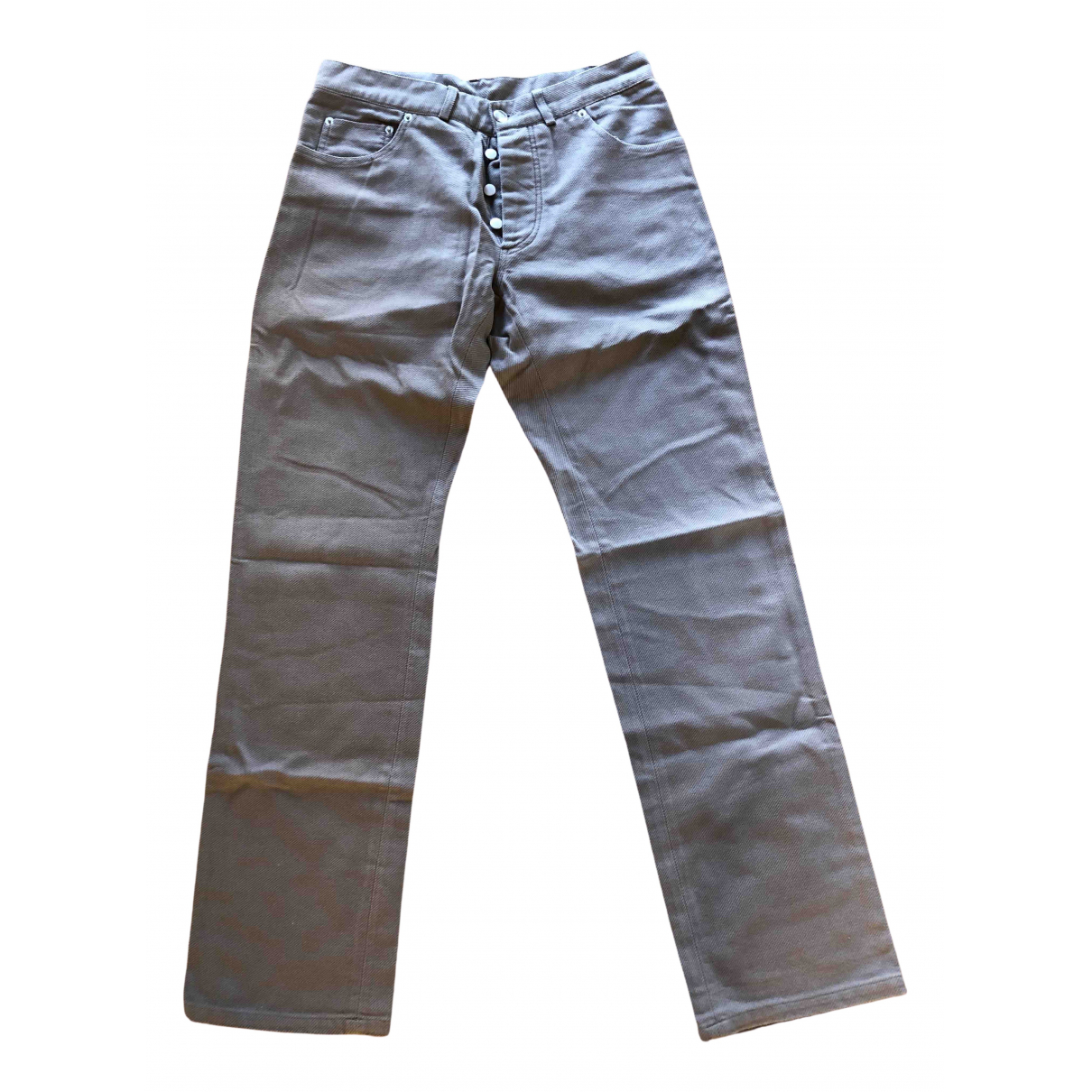Daniele Alessandrini \N Beige Denim - Jeans Trousers for Men 44 IT