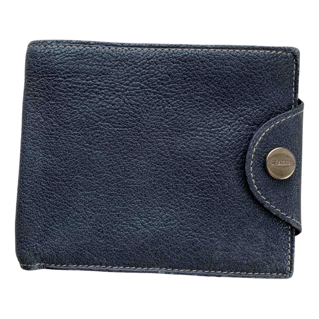 Jil Sander - Portefeuille   pour femme en cuir - bleu