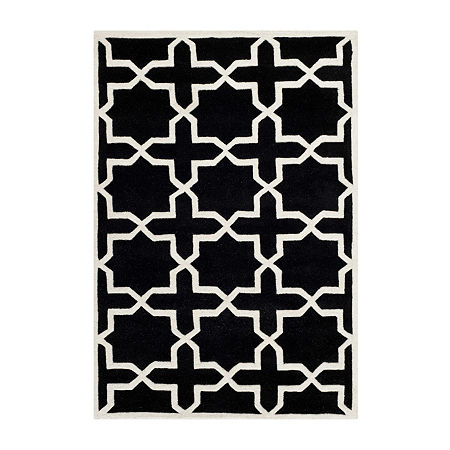 Safavieh Celestine Geometric Hand Tufted Wool Rug, One Size , Black