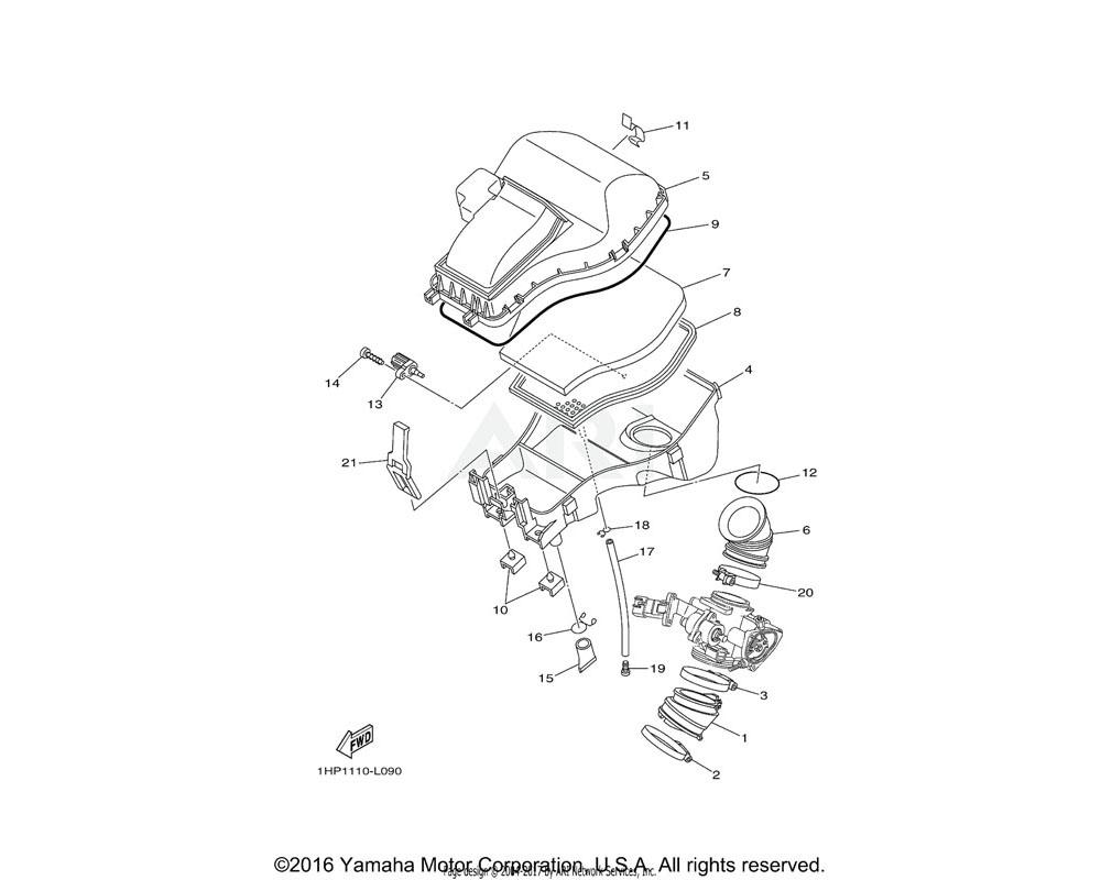 Yamaha OEM 1HP-E4462-00-00 SEAL
