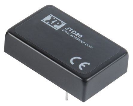 XP Power JTD20 20W Isolated DC-DC Converter Through Hole, Voltage in 18 → 75 V dc, Voltage out 15V dc