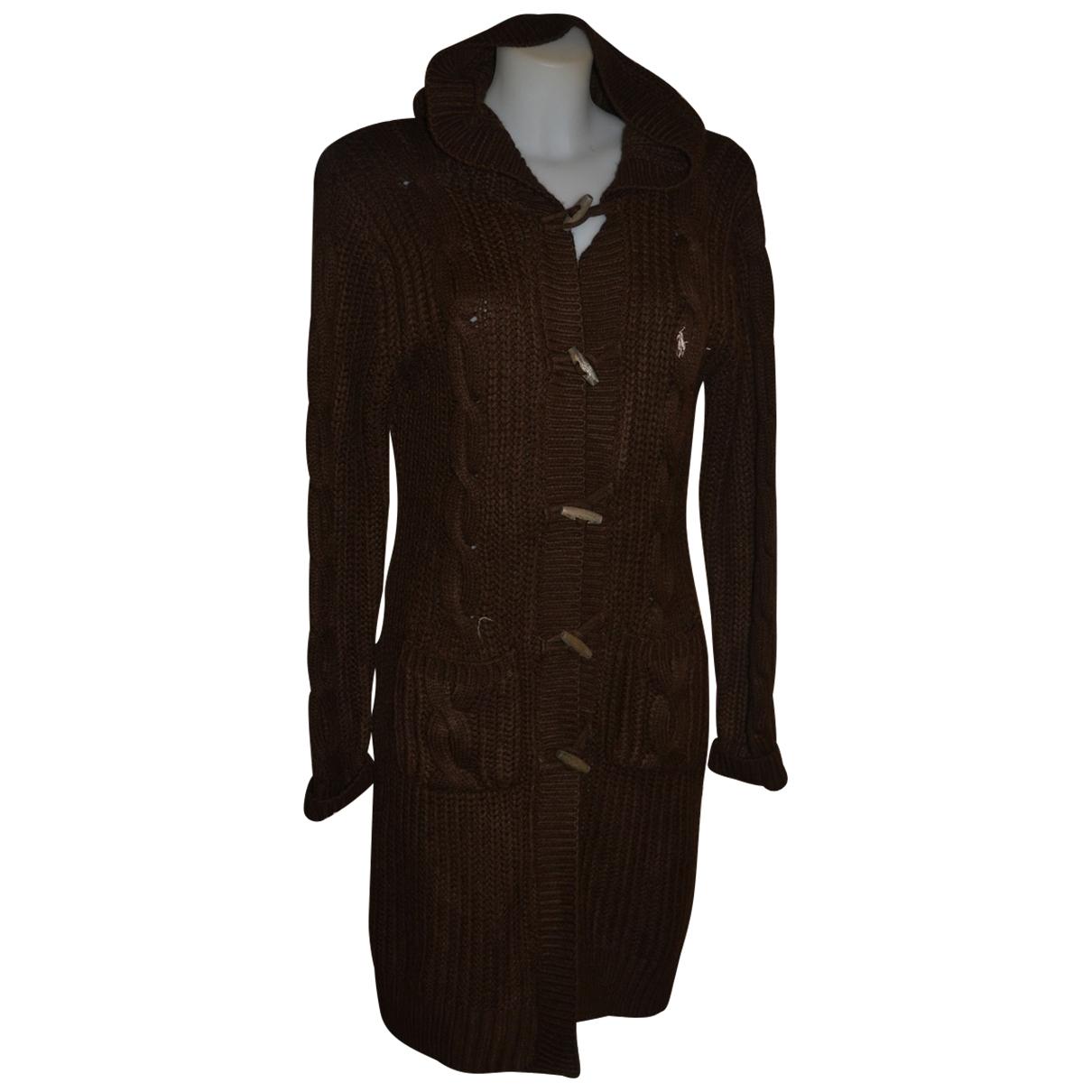 Polo Ralph Lauren - Pull   pour femme en laine - marron