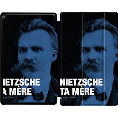 Amazon Fire HD 10 (2017) Tablet Smart Case - Nietzsche Ta Mere von Fists Et Lettres