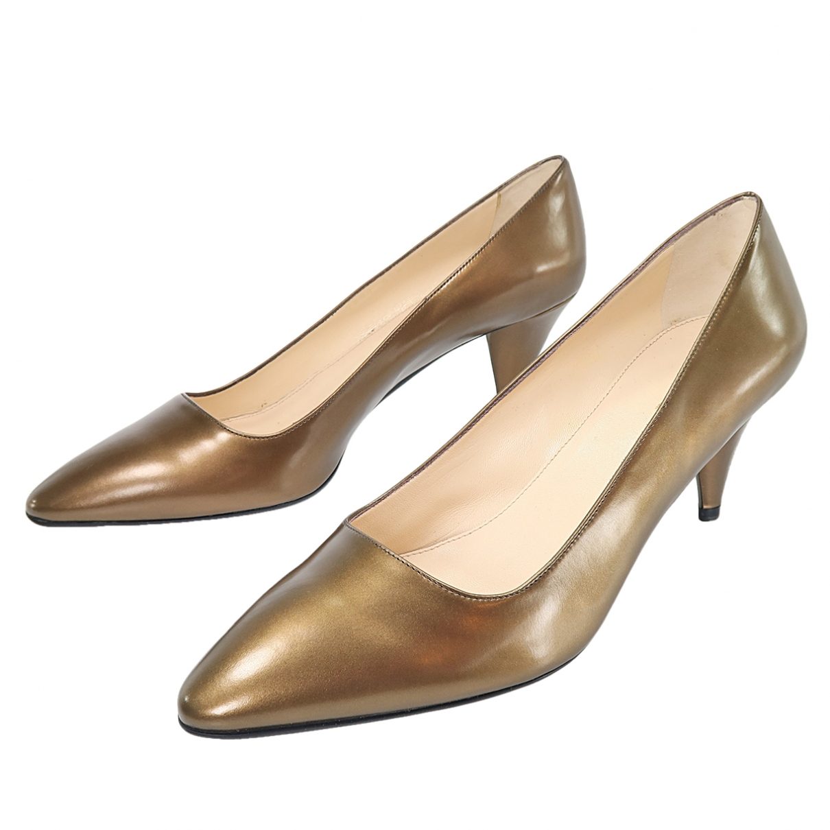 Prada \N Metallic Leather Heels for Women 41.5 EU
