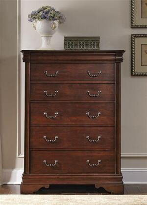 Carriage Court Collection 709-BR41 40 Chest with 6 Drawers  Hidden Top Drawer  Full Extension Glides and Bottom Case Dust Proofing in Mahogany Stain
