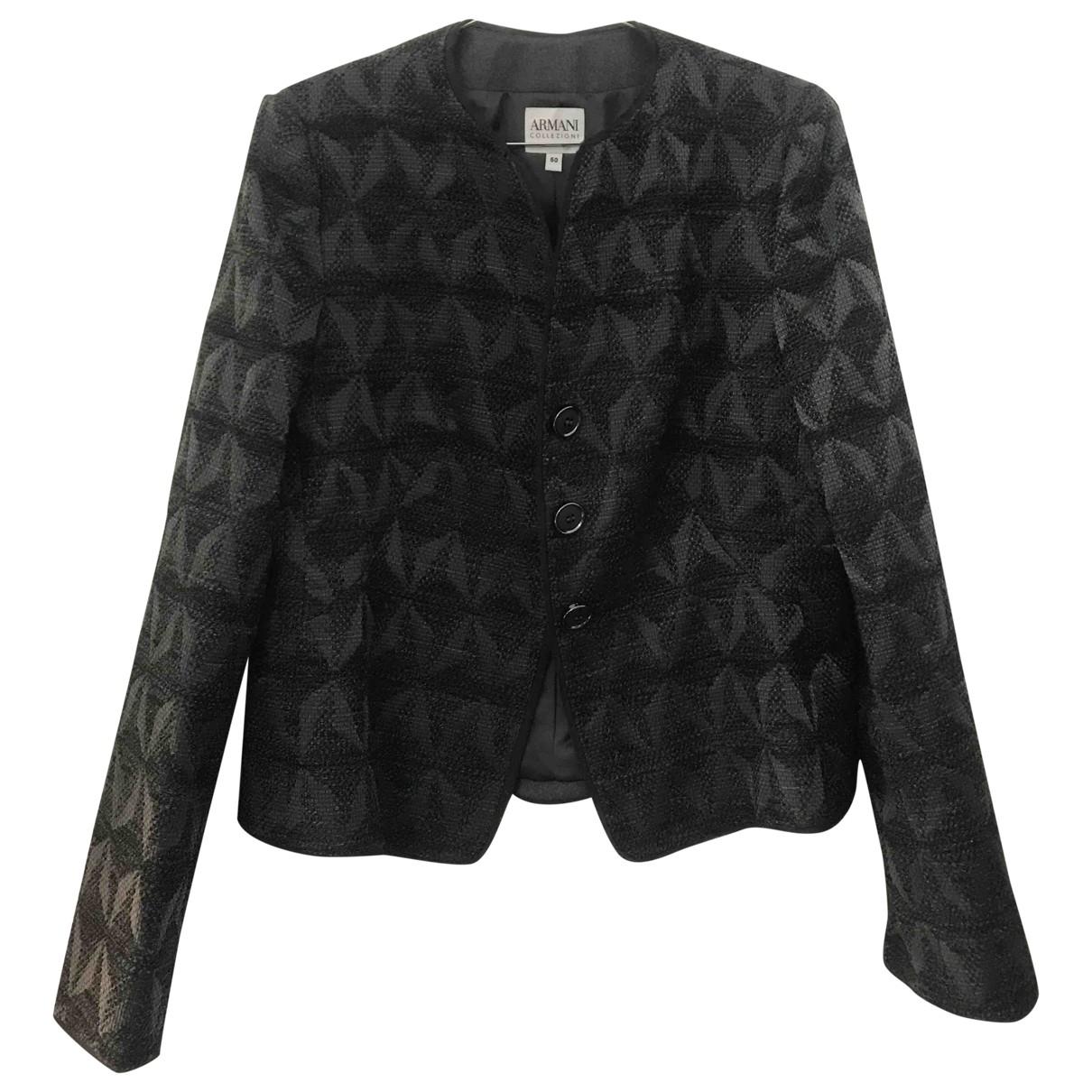 Armani Collezioni \N Grey Wool jacket for Women 50-52 IT