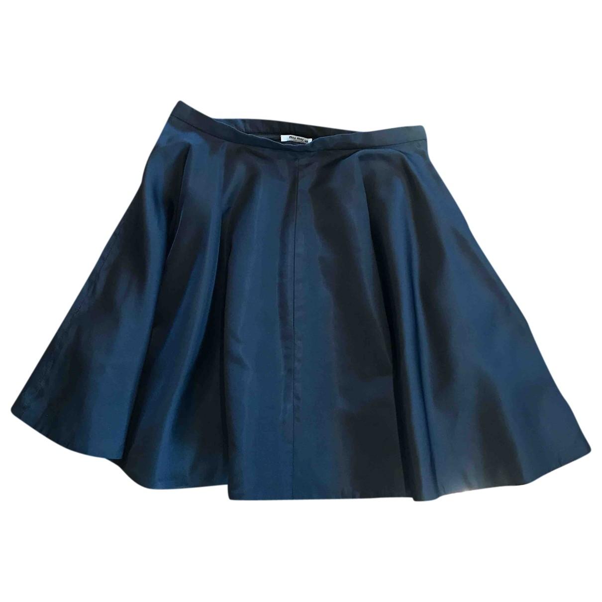 Mini falda de Seda Miu Miu