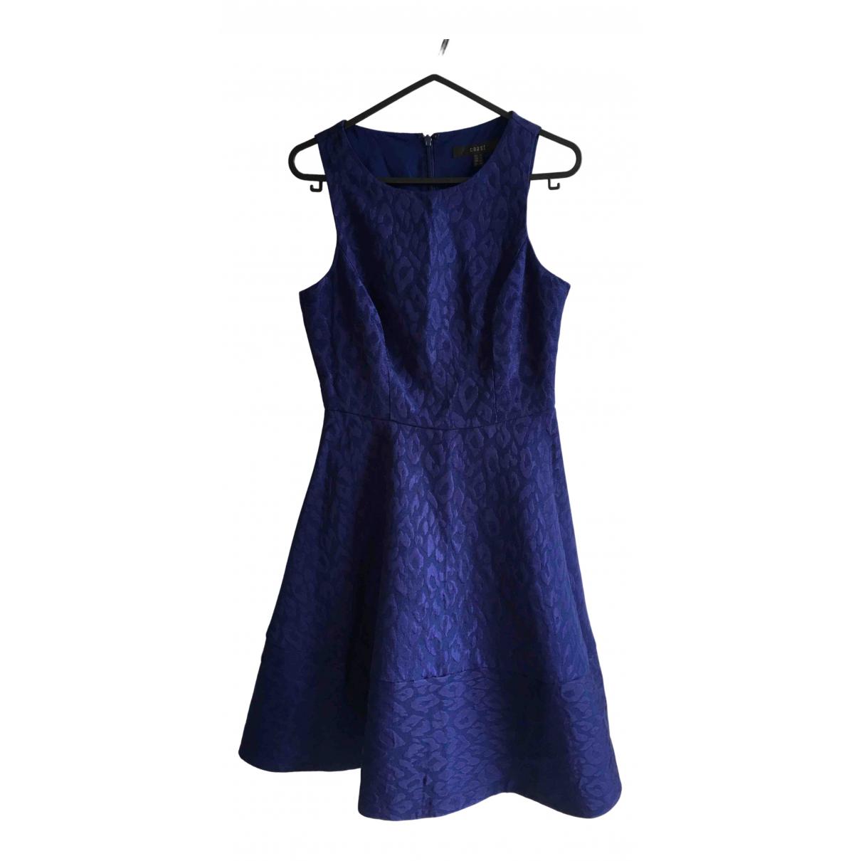 Coast \N Kleid in  Blau Baumwolle