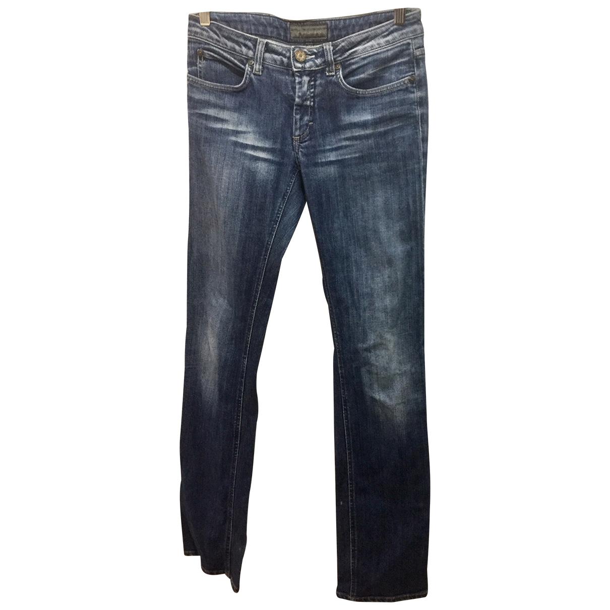 Acne Studios \N Blue Cotton - elasthane Jeans for Women 30 US