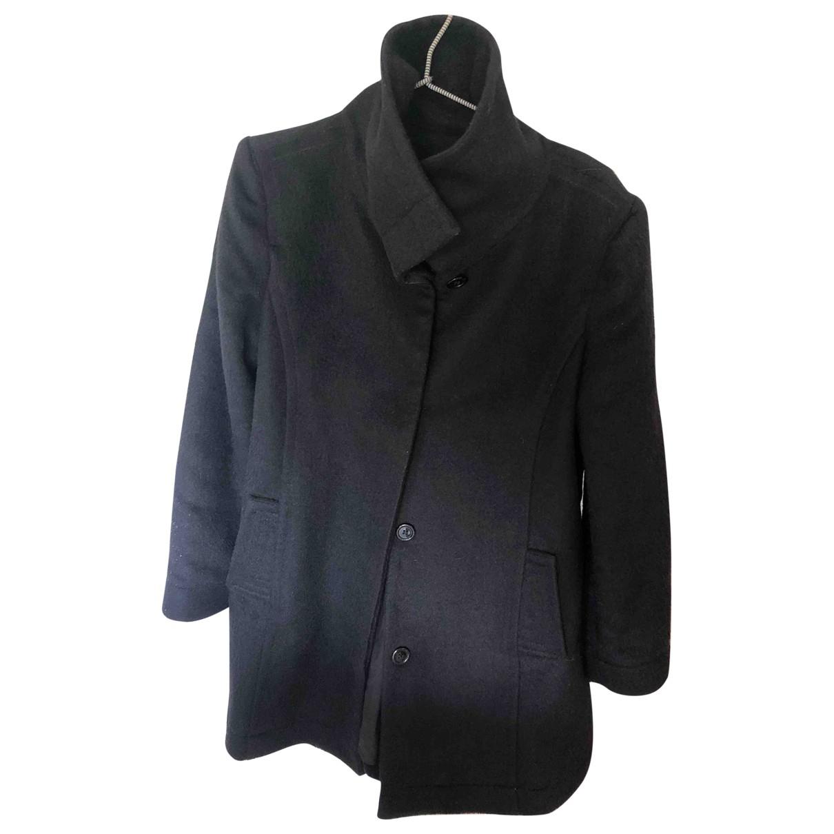 Armani Jeans \N Black Cotton coat for Women 46 IT