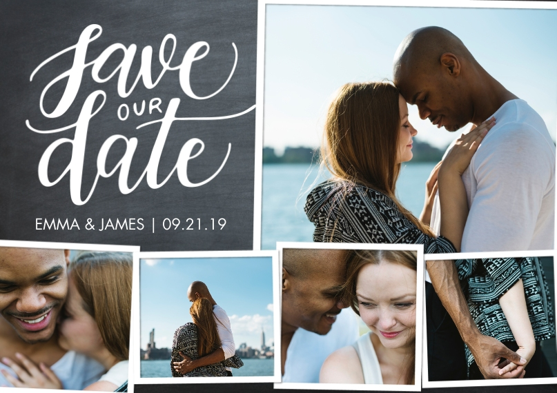 Save the Date 5x7 Postcards, Card & Stationery -Save the Date Woodgrain Collage