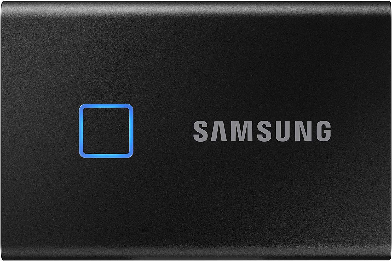 Samsung T7 Touch Portable SSD - 1TB - USB 3.2 (MU-PC1T0K/WW), Black