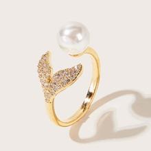 1 pieza anillo con diamante de imitacion